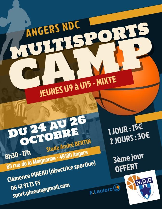 Camp NDC  multisports vacances de la Toussaint 2018