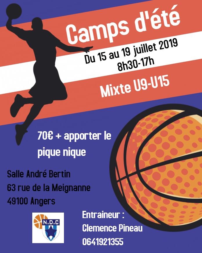 Les camps d'été des jeunes de la NDC juillet