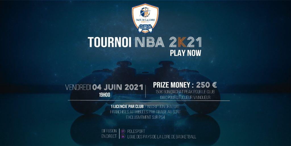 TOURNOI ESPORT NBA 2K21 – LIGUE DES PAYS DE LA LOIRE DE BASKETBALL