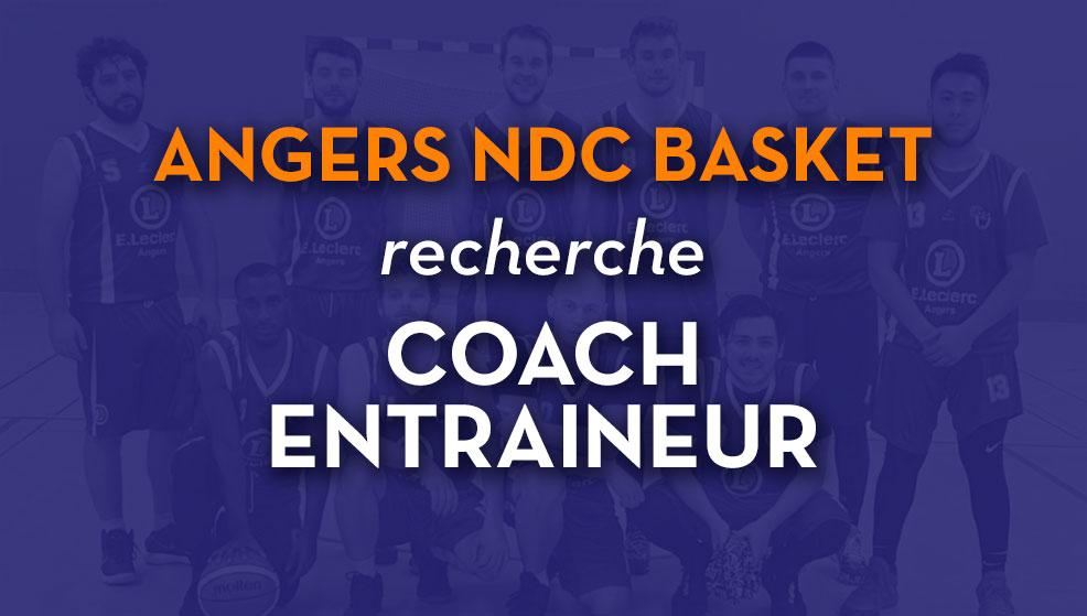 Angers NDC Basket recherche entraîneur/coach pour équipe seniors DM3 sur Angers