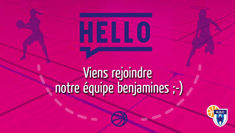 Viens rejoindre notre équipe benjamines (U13) !