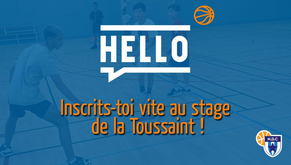 Stage de la Toussaint à Angers NDC Basket